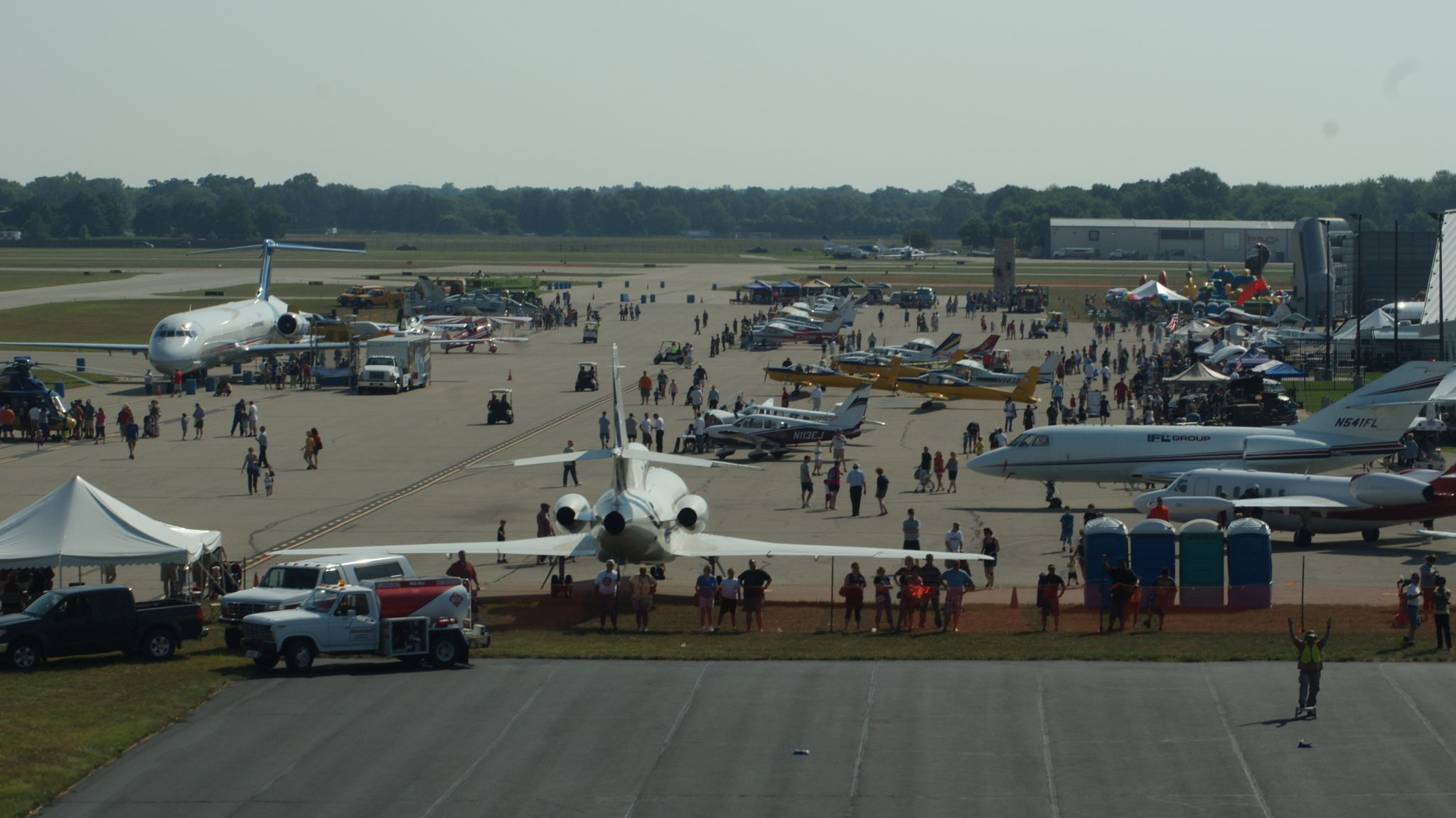 Flying high at the oakland county airport open house for A b motors waterford mi