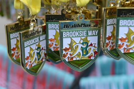 Brooksie Way 10K Medals.