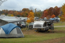 The campgrounds are busy!