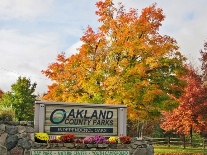 Independence Oaks in its autumn glory.