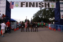 The Color Guard presenting before the race begins.