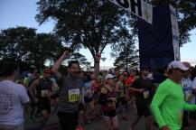 10K runners leaving the starting area.