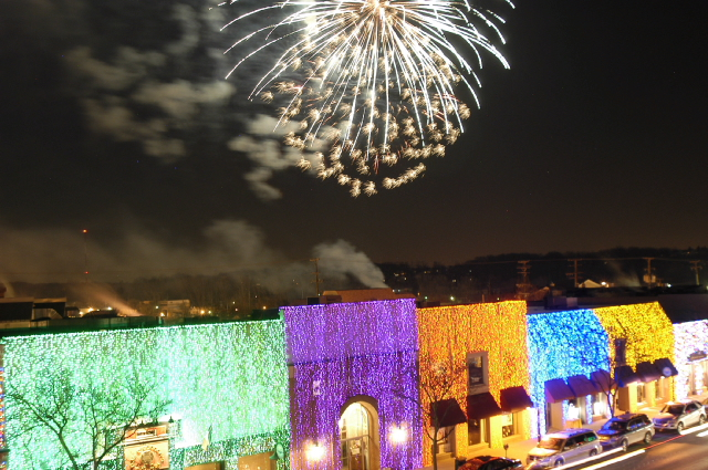 Fire & Ice Festival fireworks.