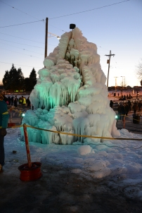 Ice tree at the Fire and Ice Festival.