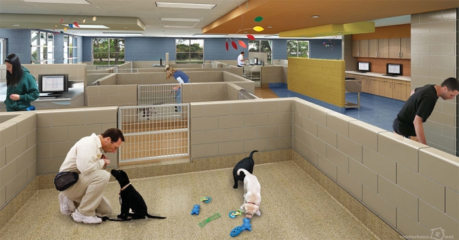 New canine development center provides improved care and for Building dog kennels for breeding