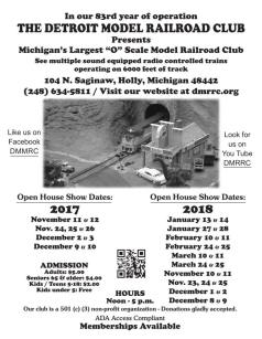 Detroit Model Railroad Club Flyer