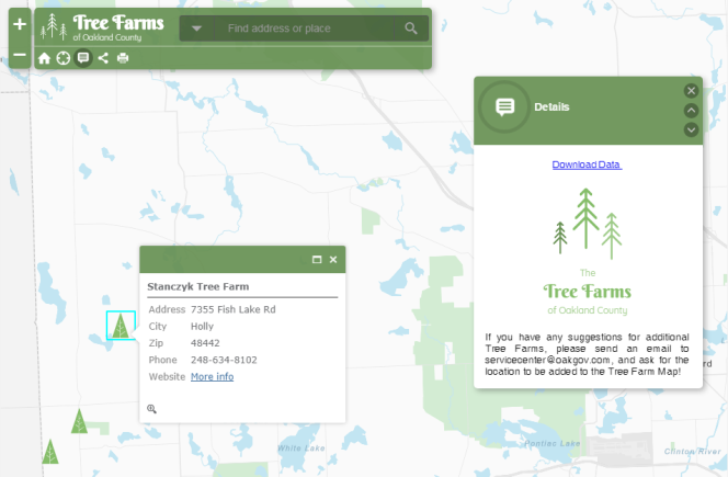 Tree Farm Map