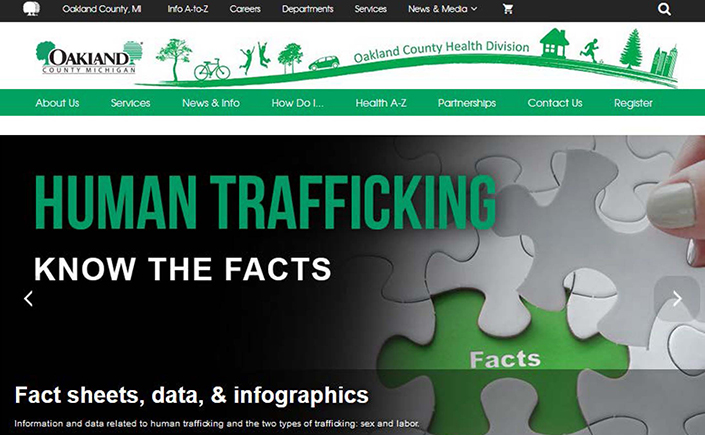 Oakland County Battles Human Trafficking with New Website