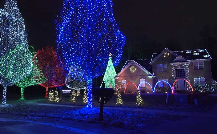 Located at 3111 Paramount Lane, this exciting display uses traditional Christmas  lights that are programmed to dance along with music ... - Our Dancing Lights Glows With Holiday Tradition In Oakland County