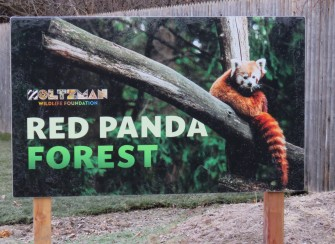 A sign that reads: Red Panda Forest.