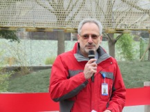 Ron Kagan, executive director and CEO of the Detroit Zoological Society speaks at the Red Panda Forest Dedication