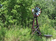 meadow with windmill