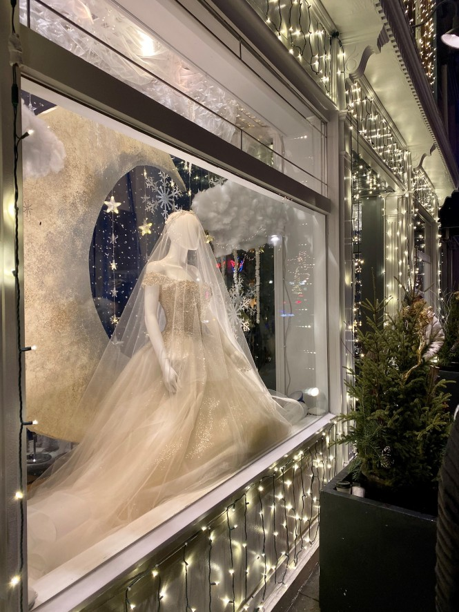 WIndow display at Gina's Bridal